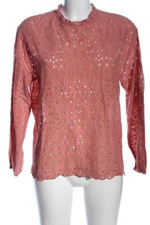 Zara Langarm-Bluse pink Casual-Look