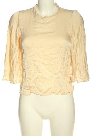 Zara Langarm-Bluse blassgelb Casual-Look