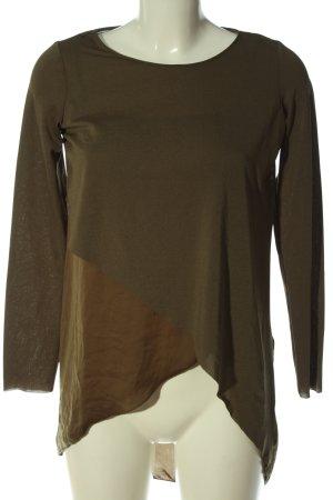 Zara Langarm-Bluse bronzefarben Casual-Look