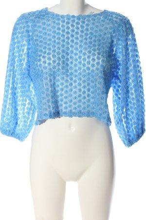 Zara Langarm-Bluse blau Elegant