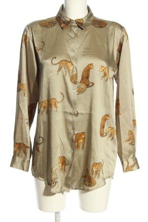 Zara Camicetta a maniche lunghe motivo animale stile casual