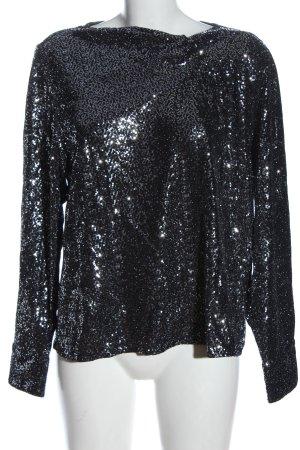 Zara Langarm-Bluse silberfarben Elegant