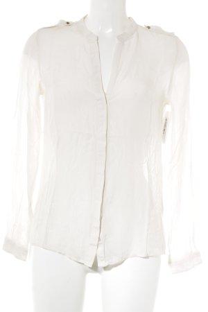 Zara Langarm-Bluse creme Elegant