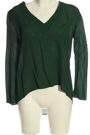 Zara Langarm-Bluse grün Casual-Look