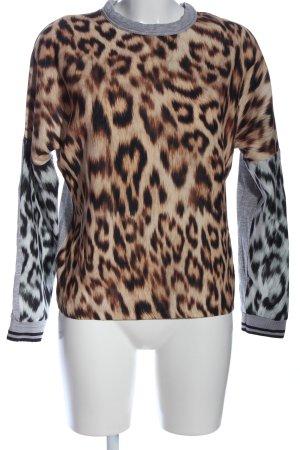 Zara Langarm-Bluse Animalmuster Casual-Look