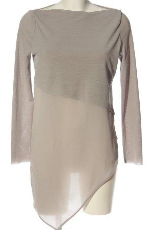 Zara Bluzka z długim rękawem brązowy W stylu casual