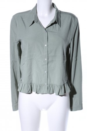 Zara Langarm-Bluse khaki Business-Look
