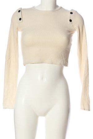 Zara Langarm-Bluse creme Casual-Look