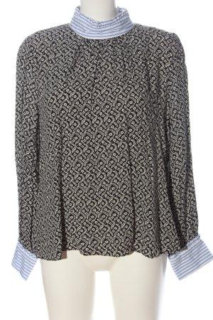 Zara Langarm-Bluse Mustermix Business-Look