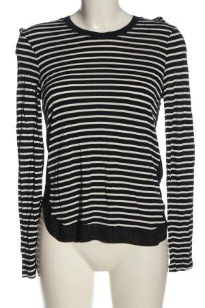 Zara Longsleeve schwarz-weiß Streifenmuster Casual-Look