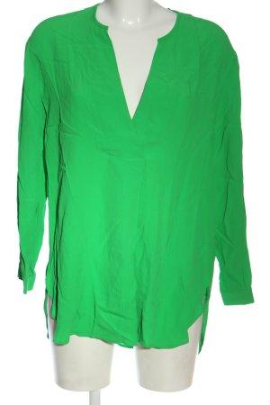 Zara Langarm-Bluse grün Elegant