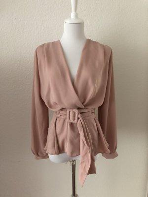 Zara Langarm Bluse mit Gürtel