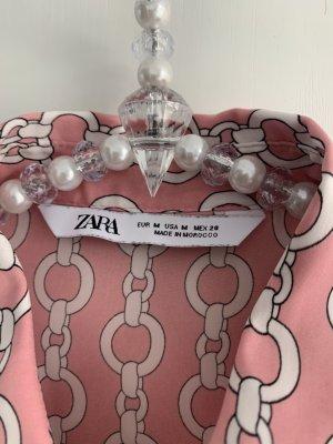 Zara langarm Bluse mit tollem Kettenmuster