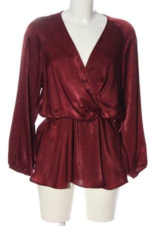 Zara Langarm-Bluse rot Elegant