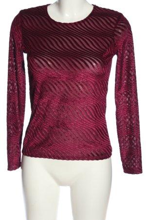 Zara Langarm-Bluse pink Streifenmuster Casual-Look