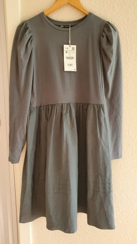 Zara Langarm Kleid Midikleid A-Linienkleid