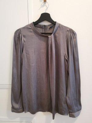 ZARA LANGARM Shirt Bluse grau S