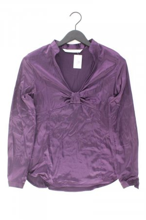 Zara Langarmbluse Größe L lila aus Polyester