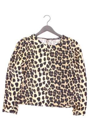 Zara Langarmbluse Größe XL mit Tierdruck neuwertig braun aus Polyester
