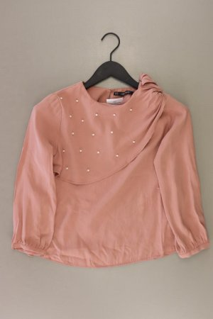 Zara Langarmbluse Größe XS rosa aus Viskose
