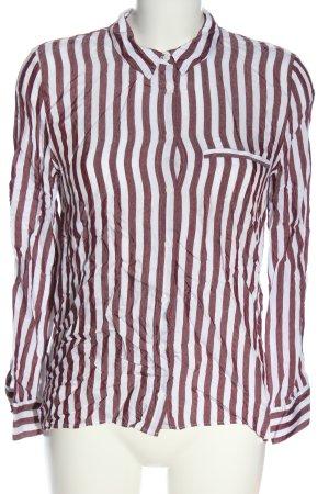 Zara Langarmhemd rot-weiß Allover-Druck Casual-Look