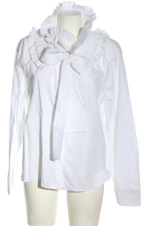 Zara Langarmhemd weiß Elegant
