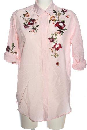 Zara Langarmhemd Blumenmuster Casual-Look