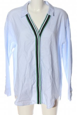 Zara Langarmhemd blau-grün Casual-Look