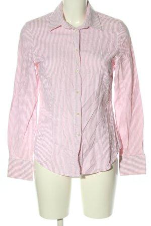 Zara Langarmhemd pink-weiß Allover-Druck Casual-Look