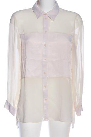 Zara Langarmhemd weiß-pink Casual-Look