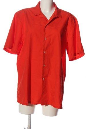 Zara Camisa de manga corta rojo look casual