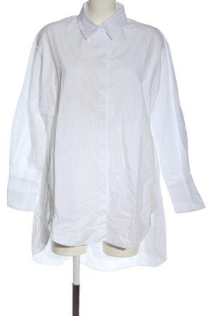 Zara Koszula z długim rękawem biały W stylu biznesowym