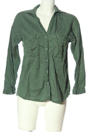 Zara Langarmhemd grün Casual-Look