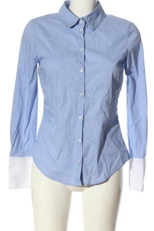 Zara Langarmhemd blau Business-Look