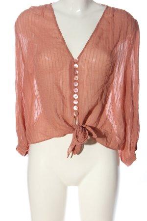Zara Langarmhemd pink Casual-Look