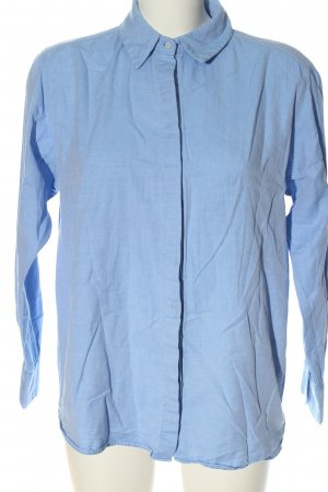 Zara Langarmhemd blau Streifenmuster Business-Look