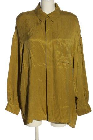 Zara Langarmhemd grün/gelb, schön oversized