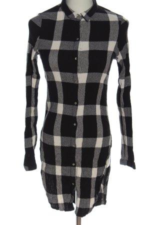 Zara Langarmhemd schwarz-weiß Allover-Druck Casual-Look
