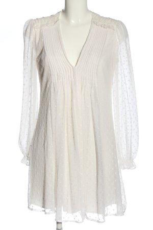 Zara Langarmkleid weiß Elegant
