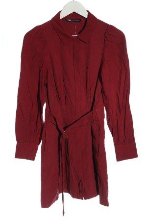 Zara Langarmkleid rot klassischer Stil