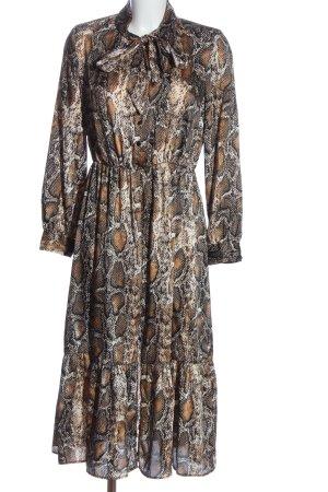 Zara Longsleeve Dress animal pattern casual look