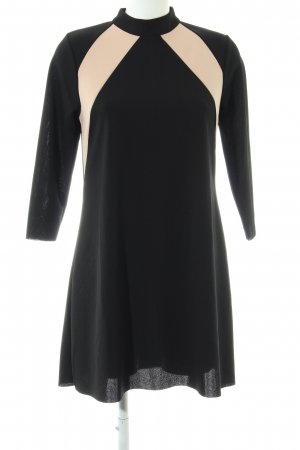 Zara Langarmkleid schwarz-creme Streifenmuster Business-Look