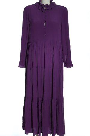Zara Sukienka z długim rękawem fiolet Elegancki