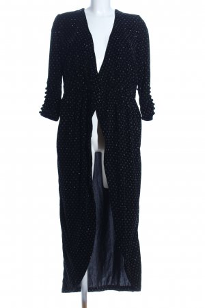 Zara Coat Dress black-silver-colored spot pattern extravagant style