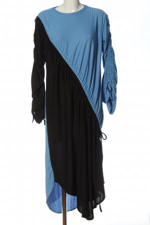 Zara Langarmkleid blau-schwarz Streifenmuster Casual-Look