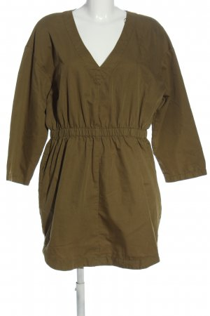 Zara Langarmkleid bronzefarben Casual-Look
