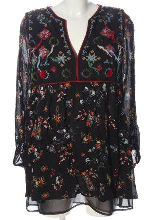 Zara Abito a maniche lunghe motivo floreale stile casual