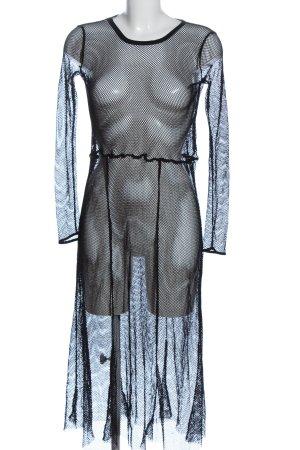 Zara Langarmkleid schwarz extravaganter Stil