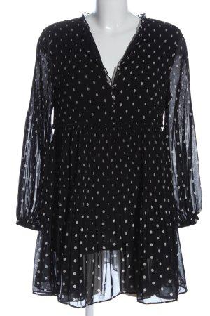 Zara Longsleeve Dress black-white allover print casual look