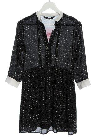 Zara Langarmkleid schwarz Punktemuster klassischer Stil